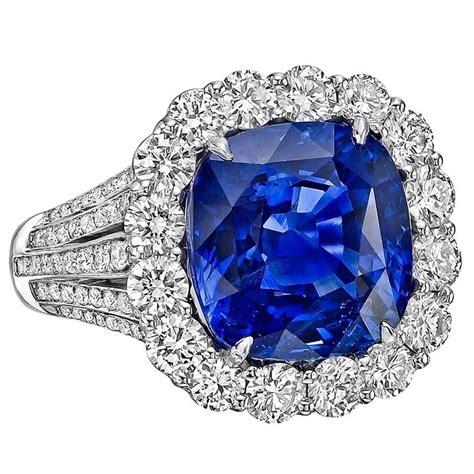 Blue Sapphire Ceylon Platina Ring robert procop 9 10 carat ceylon sapphire platinum