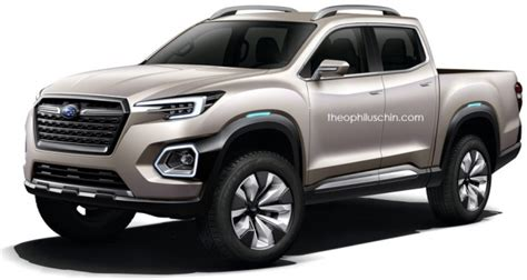 subaru pickup concept subaru pick up rendered based on viziv 7 concept