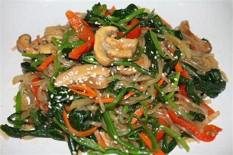 jap chae korean stir fry noodles vegetarian thejanechannel