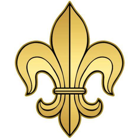 gold fleur de lis and black inscription on shoulder flor de lis cliparts co