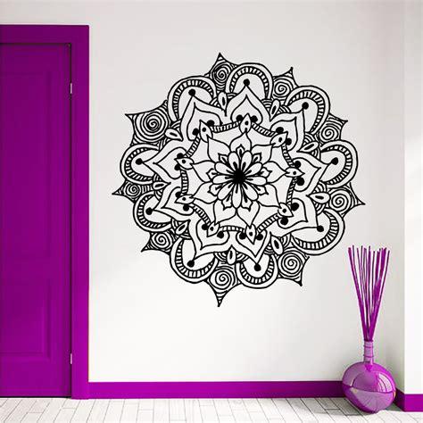 mandala tattoo ebay wall decal mandala flower vinyl sticker yoga tattoo boho