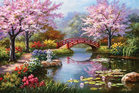 River Cottage Gardens - terrazze laghii affreschi vendita affreschi su tela vendita affreschi per muro falsi d autore
