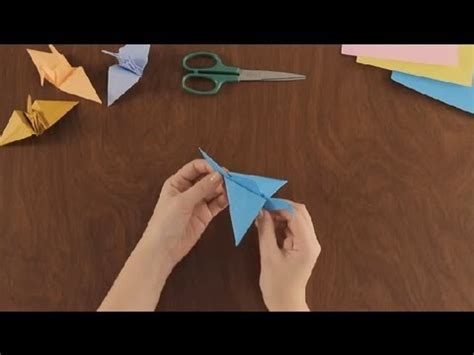 Origami Flying Crane - how to make an origami flying crane simple origami