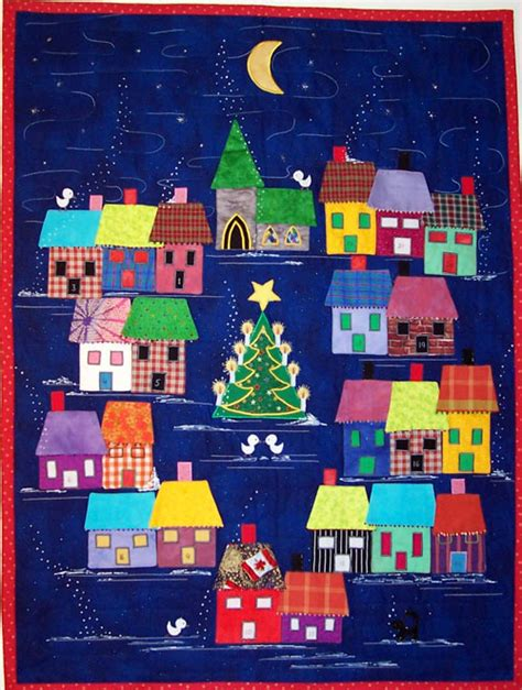 Home Design App With Roof advent calendar village pattern by lisa girard tivoli