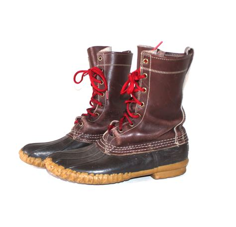 bean boots for 1950s ll bean duck boots womens 10 mens 8