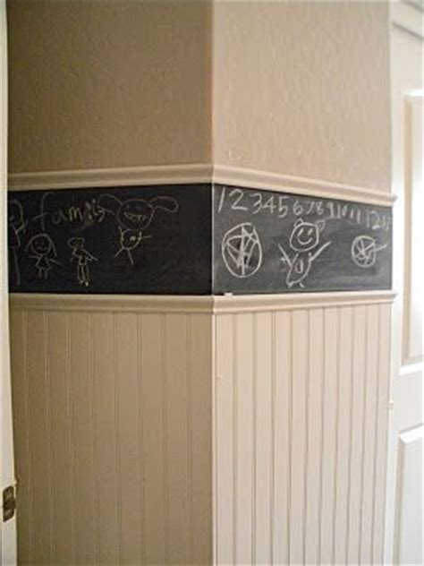 Chalkboard A Chair Rail In A Room For Some Grand