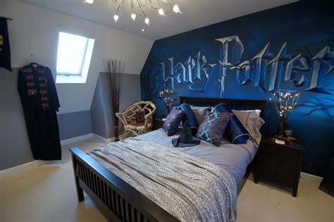 fandom themed bedroom harry potter mural room children s mural room based on