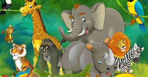imagenes animales de la selva animados im 225 gene experience ilustraci 243 n de animales en la selva