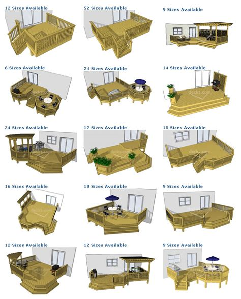 deck plans com deck plans ground level residential and commercial