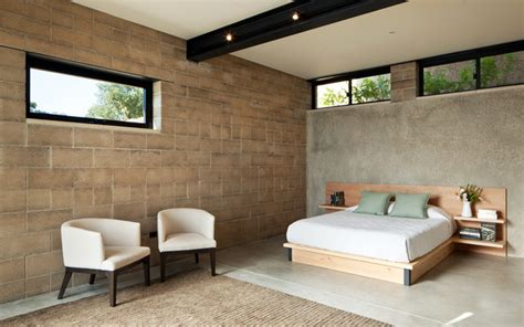 Bedroom Interior Materials Contemporary Sustainable Block Home Contemporary