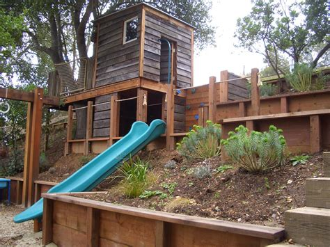 how to level a hilly backyard cool kids forts fashion san francisco rustic landscape