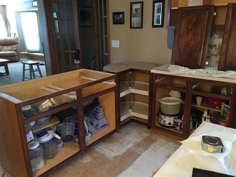 hometalk from kitchen island to peninsula kitchen remodel