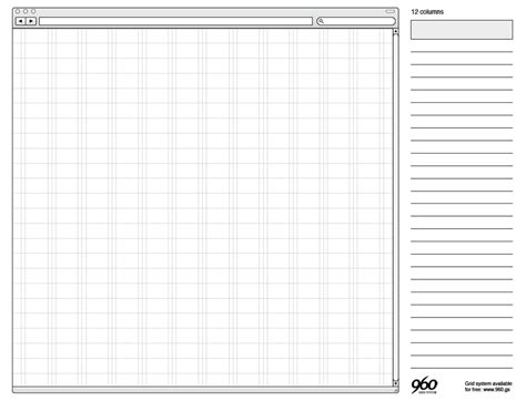 960 Grid Templates 20 free printable sketching and wireframing templates