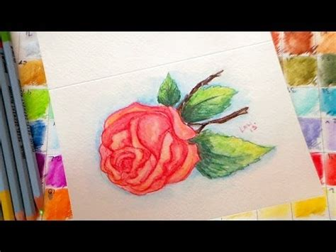 tutorial on using watercolor pencils vintage rose watercolor pencil tutorial youtube