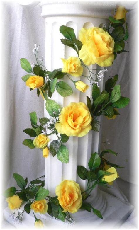 Yellow Wedding Arch by Yellow Open Garland Wedding Arch Gazebo Silk Flowers