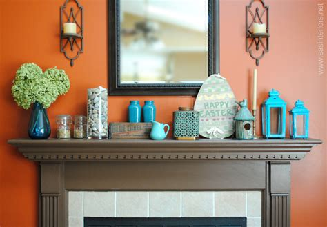 turquoise wall decor bedroom spring mantel with shades of turquoise jenna burger