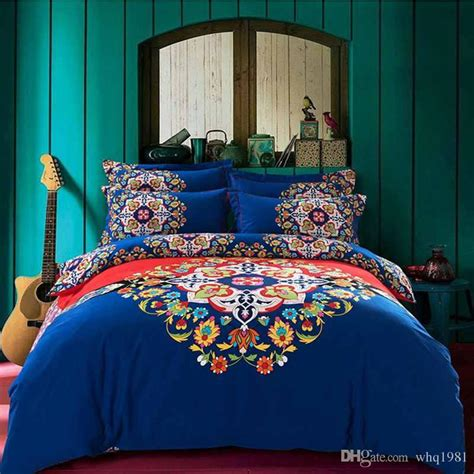 blue bohemian bedding 2016 blue bohemian bedding set queen king size boho style