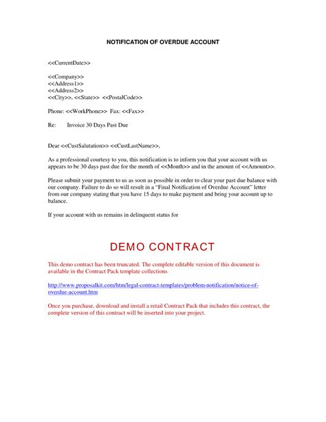 Loan Overdue Letter Letter Of Demand Sle Free Printable Documents