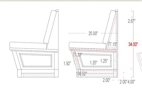 standard seat depth banquette seating dimension photo banquette design
