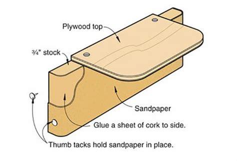 angle sanding block  edges square wood magazine