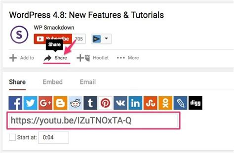 wordpress tutorial embed youtube video how to embed a youtube video in wordpress 4 ways