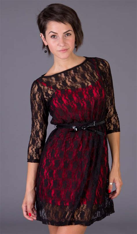 Little Black Dress With Long Lace Sleeves