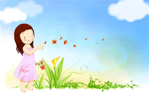cute wallpapers for kids children mood summer happy cute vector girl butterfly