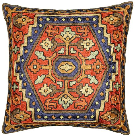 tribal pattern cushions embroidered tribal pillows archives kashmir fine arts