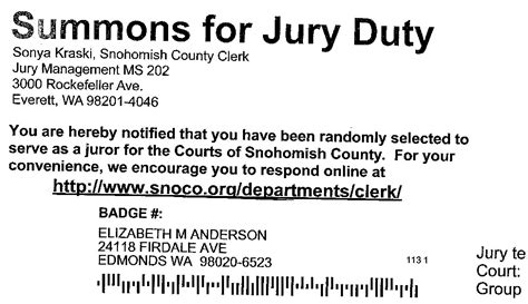 Decline Jury Duty Letter Adventures With Beth January 2012