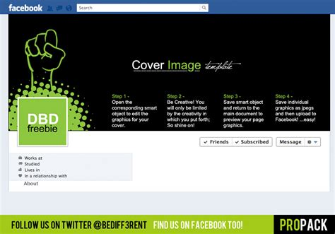 dbd coverpack psd template for facebook covers free
