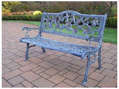 bench bar oakland oakland living english rose cast aluminum bench in antqiue