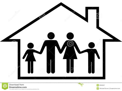 Home Design 2d Plan by House Of Happy Family Parents Kids Safe At Home Royalty