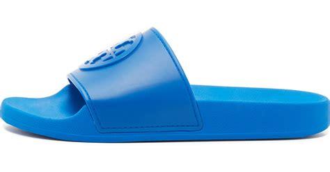 Jelly Shoes Gardenia Slide burch jelly flat slides in blue lyst