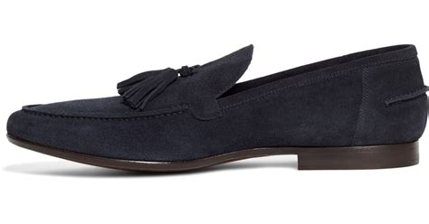 mens blue suede tassel loafers brothers suede tassel loafers in blue for navy