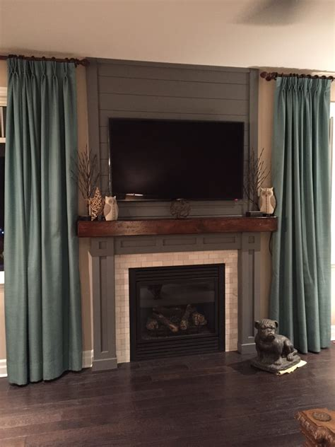Wooden Beam Fireplace by White Fireplace Wood Beam Hearth Shiplap And New Molding Diy Projects