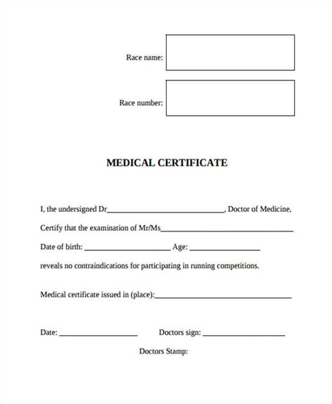 a medical certificate is required for various purposes it helps