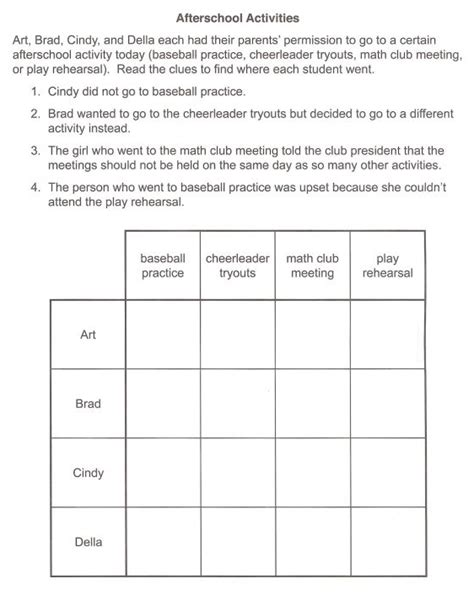 Deductive Reasoning Worksheets by All Worksheets 187 Deductive Reasoning Worksheets For Adults