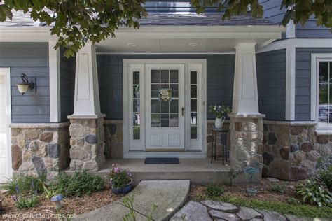 home exterior decorative accents good evening blue hardie siding stone accents andersen