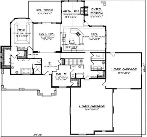 expandable house plans expandable craftsman home plan 89755ah architectural