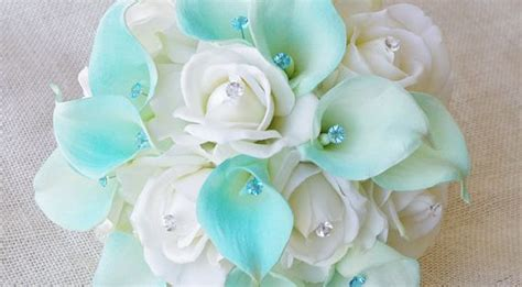 Hibiscus Pink 3944 by Silk Flower Wedding Bouquet Blue Calla Lilies By
