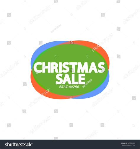 christmas sale speech bubble banner element stock vector