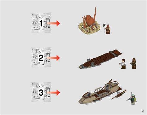 skiff escape lego lego desert skiff escape instructions 75174 star wars