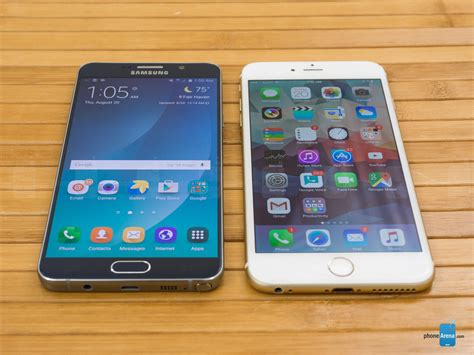 samsung galaxy note5 vs apple iphone 6 plus