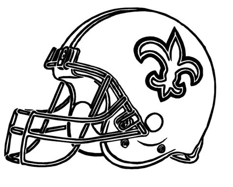 helmet saints new orleans coloring pages football