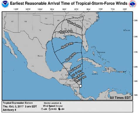 louisiana hurricane map hurricane nate path map what us states are at risk