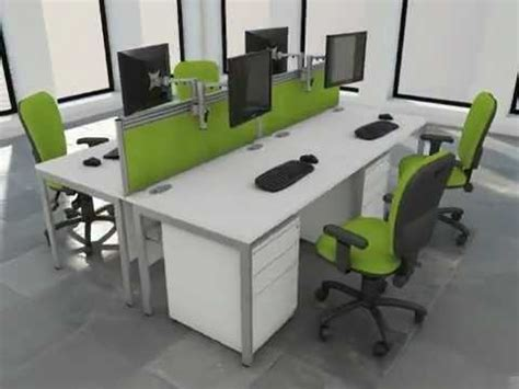 white bench desks office furniture white bench desk green option youtube
