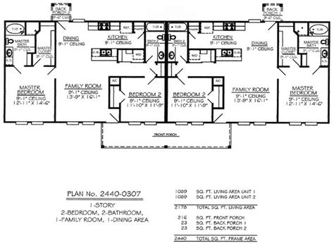 Single Story Multi Family House Plans 660 Per Plan Free Shipping For Stock House