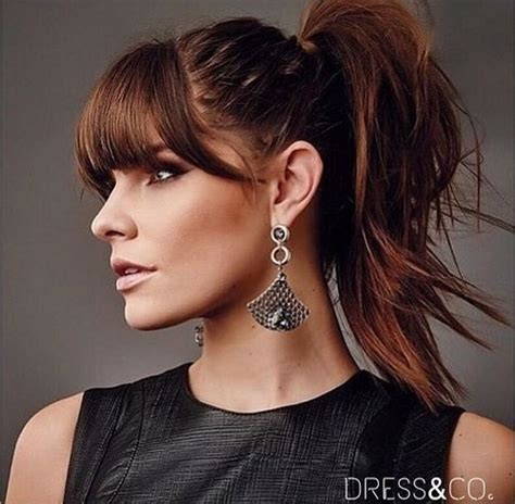 bang ponytail 20 great ponytails with bangs inspiration ideas