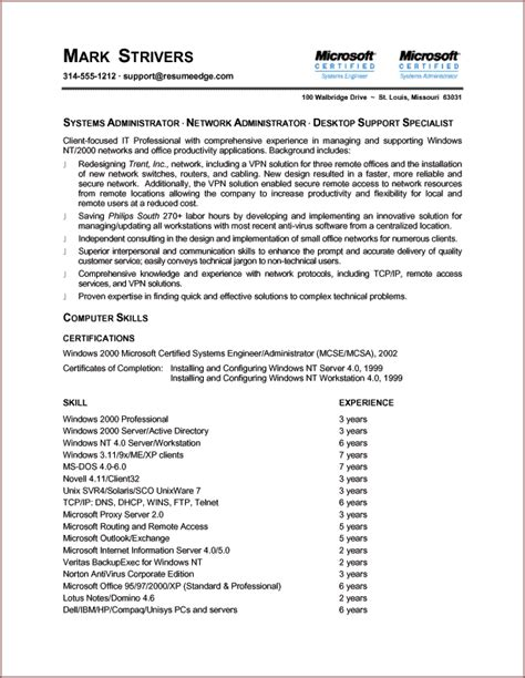 2 Page Resume Format by Sle Chronological Resume