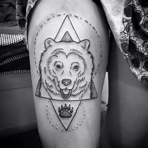bear tattoo design geometric alex by helloalexheart on